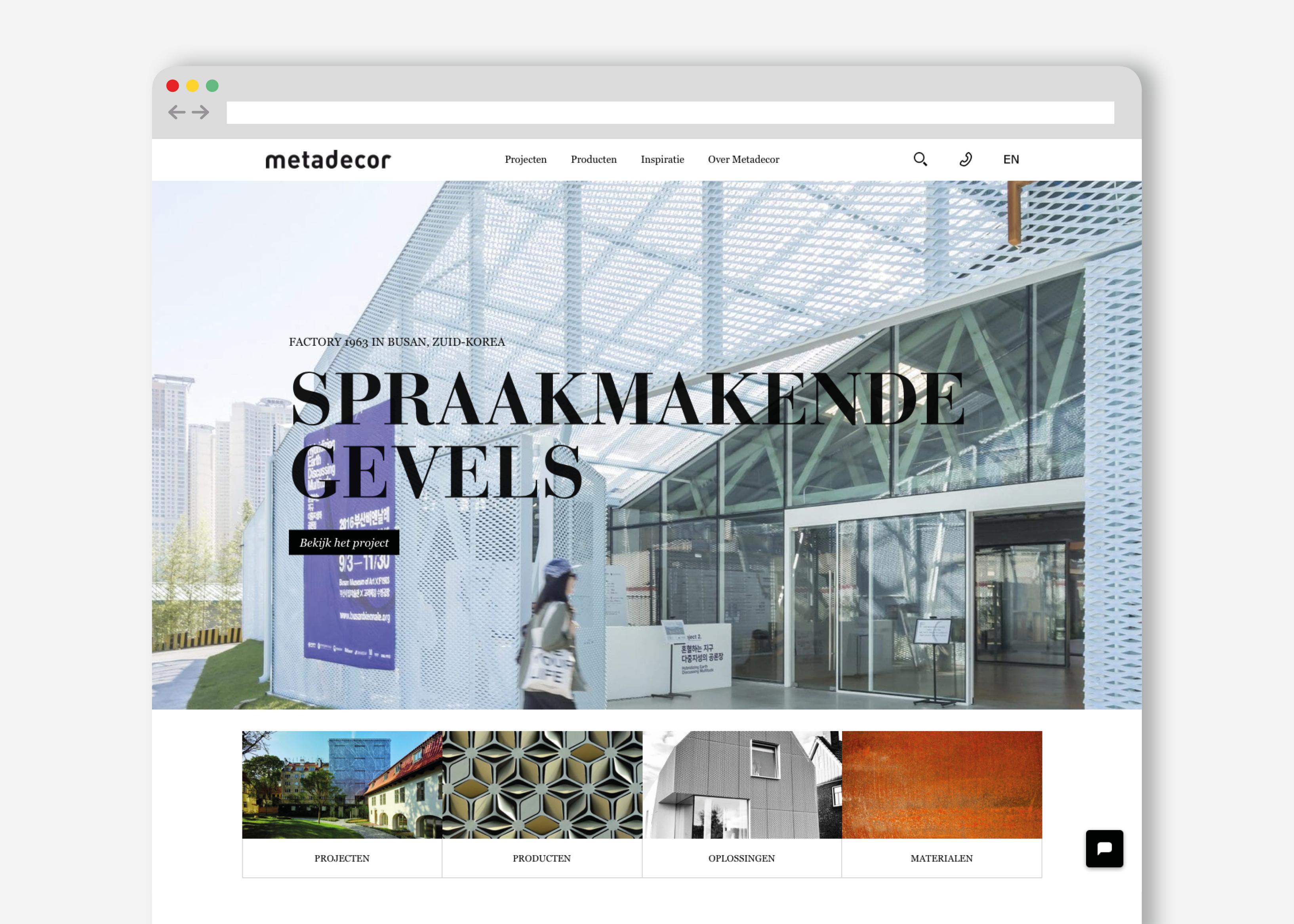 Voorbeeld van een website ontwerp gemaakt door ontwerpbureau burowit in kampen