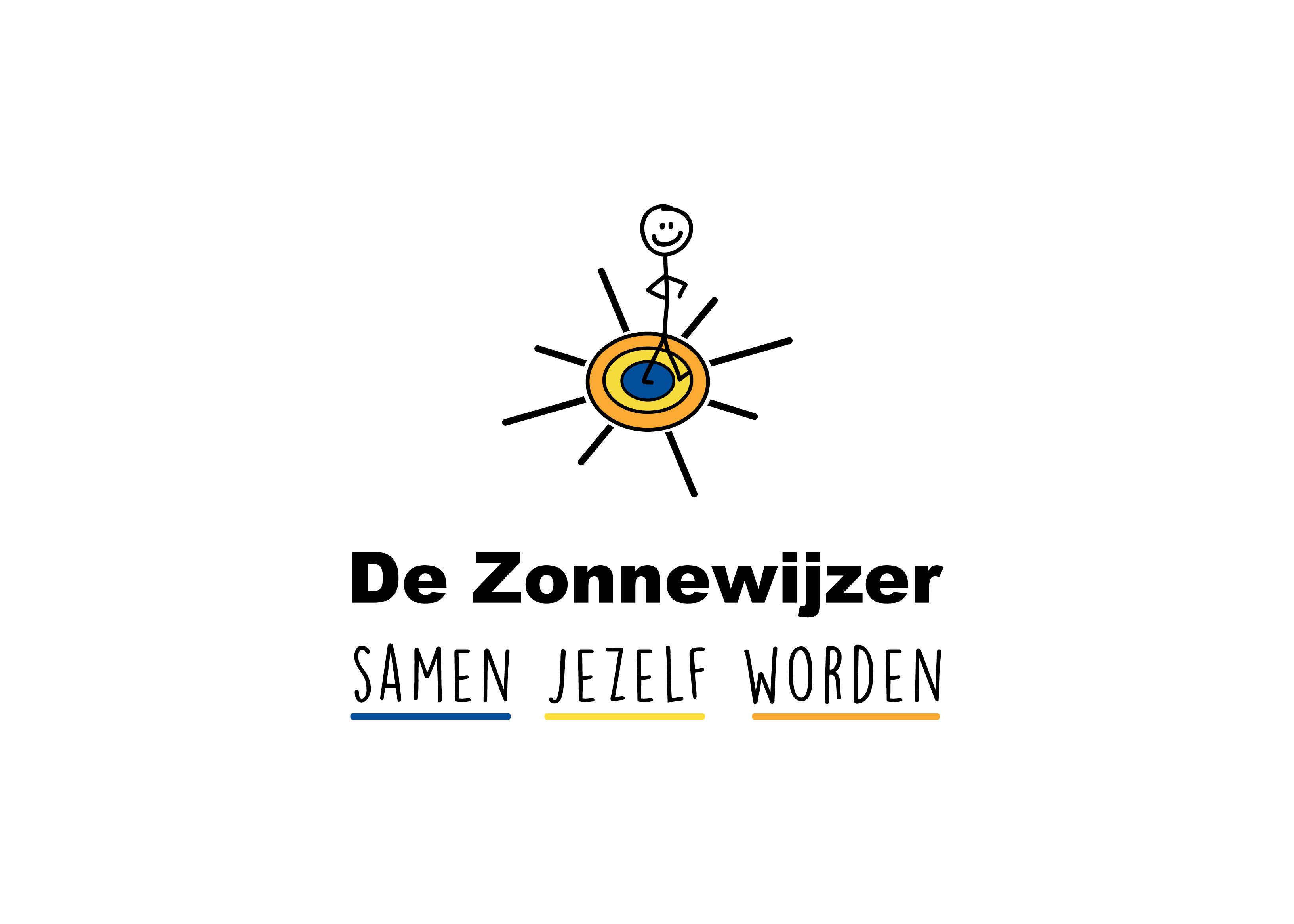 Voorbeeld van een logo ontwerp. Een logo voor De zonnewijzer. Ontwerpbureau: burowit in Kampen