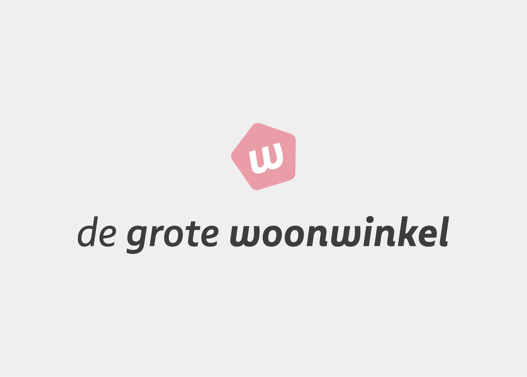 Voorbeeld van een logo ontwerp. Dit ontwerp logo is voor De Grote Woonwinkel. Gemaakt door ontwerpbureau: burowit in Kampen. Creatief in film en ontwerp.