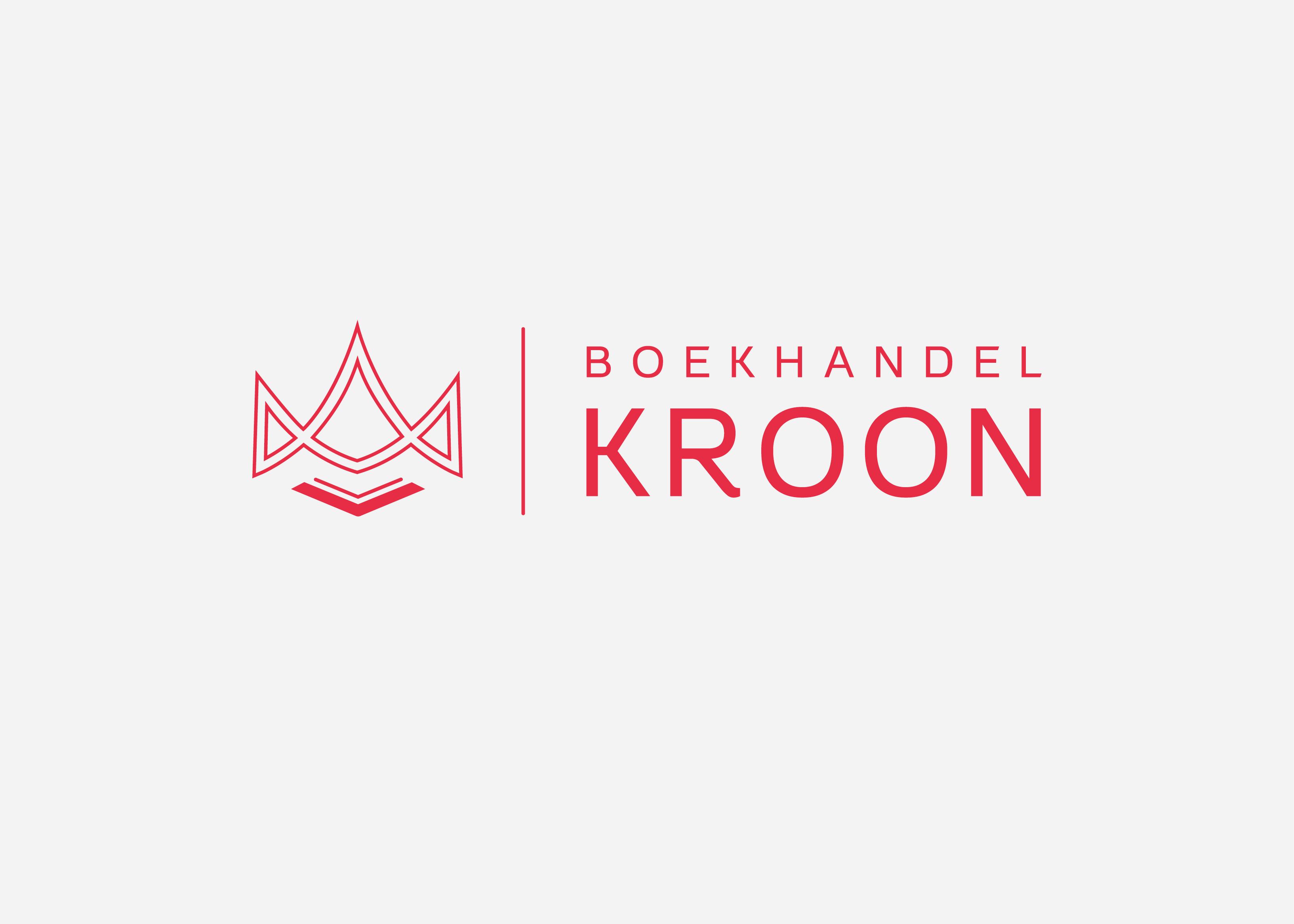 Boekhandel Kroon Logo Ontwerp gemaakt door burowit in kampen