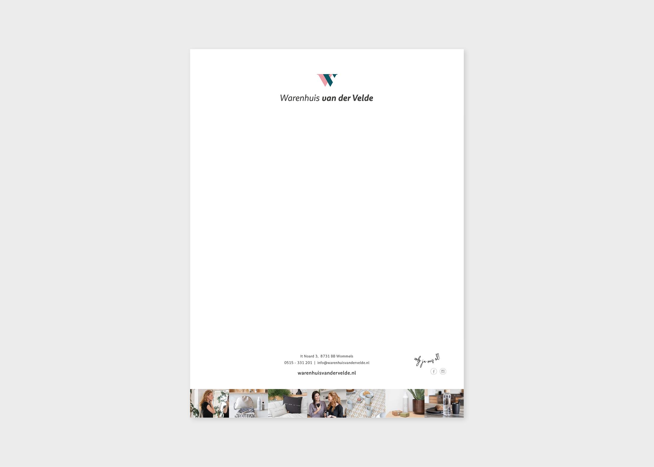 Briefpapier-ontwerp-digitaal-briefpapier-invulbaar-warenhuis-van-der-velde-banner-ontwerp-burowit-reclamebureau-kampen-thirza-bakker