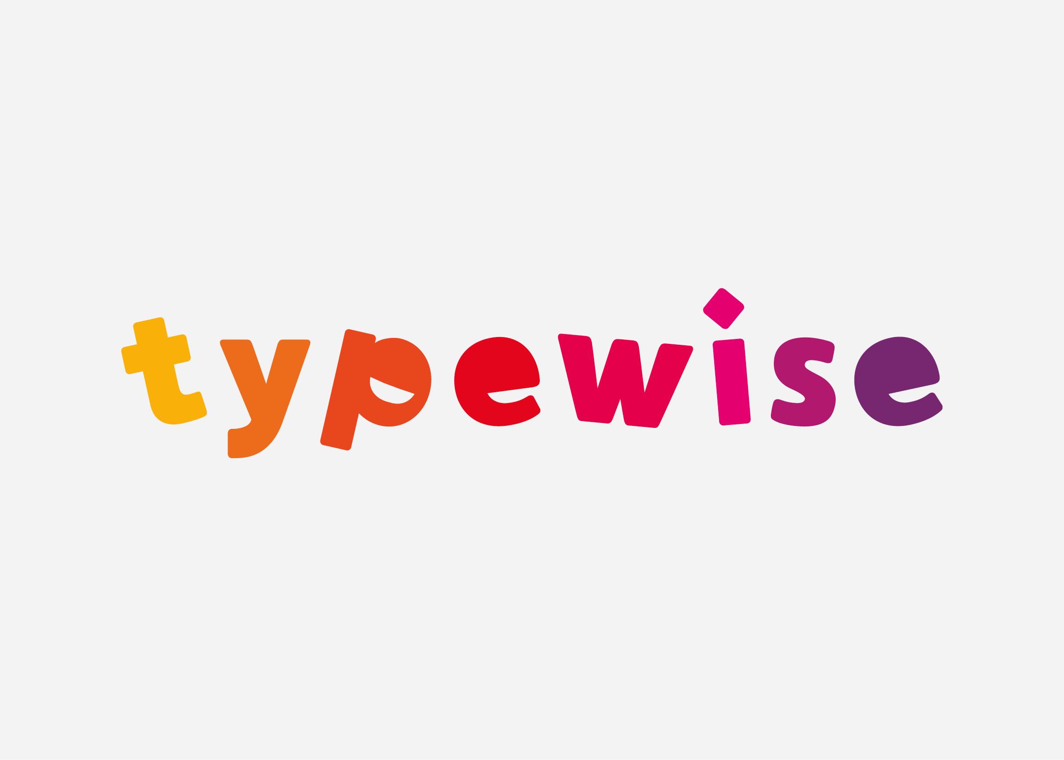 Logo nodig? Wij maakten het logo voor Typewise. Typecursus in Genemuiden, kampen ijsselmuiden. Speels logo ontwerp. Kleurrijk logo